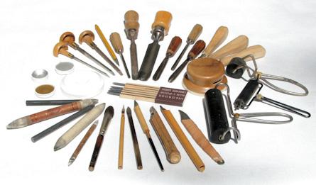 Werkzeug (zum Teil selbst gefertigt), mit dem Eggert Gustavs arbeitete