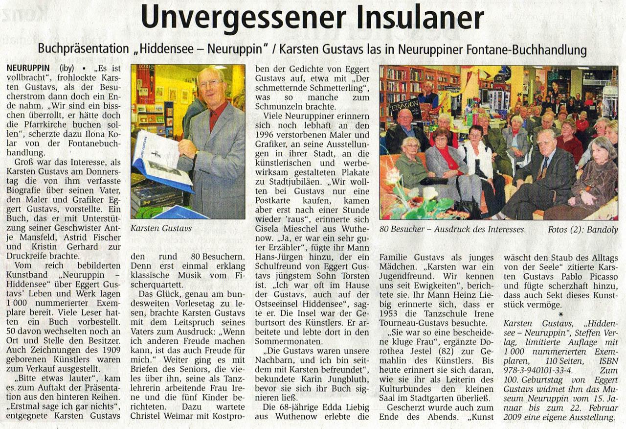 Ruppiner Anzeiger 22.11.2008