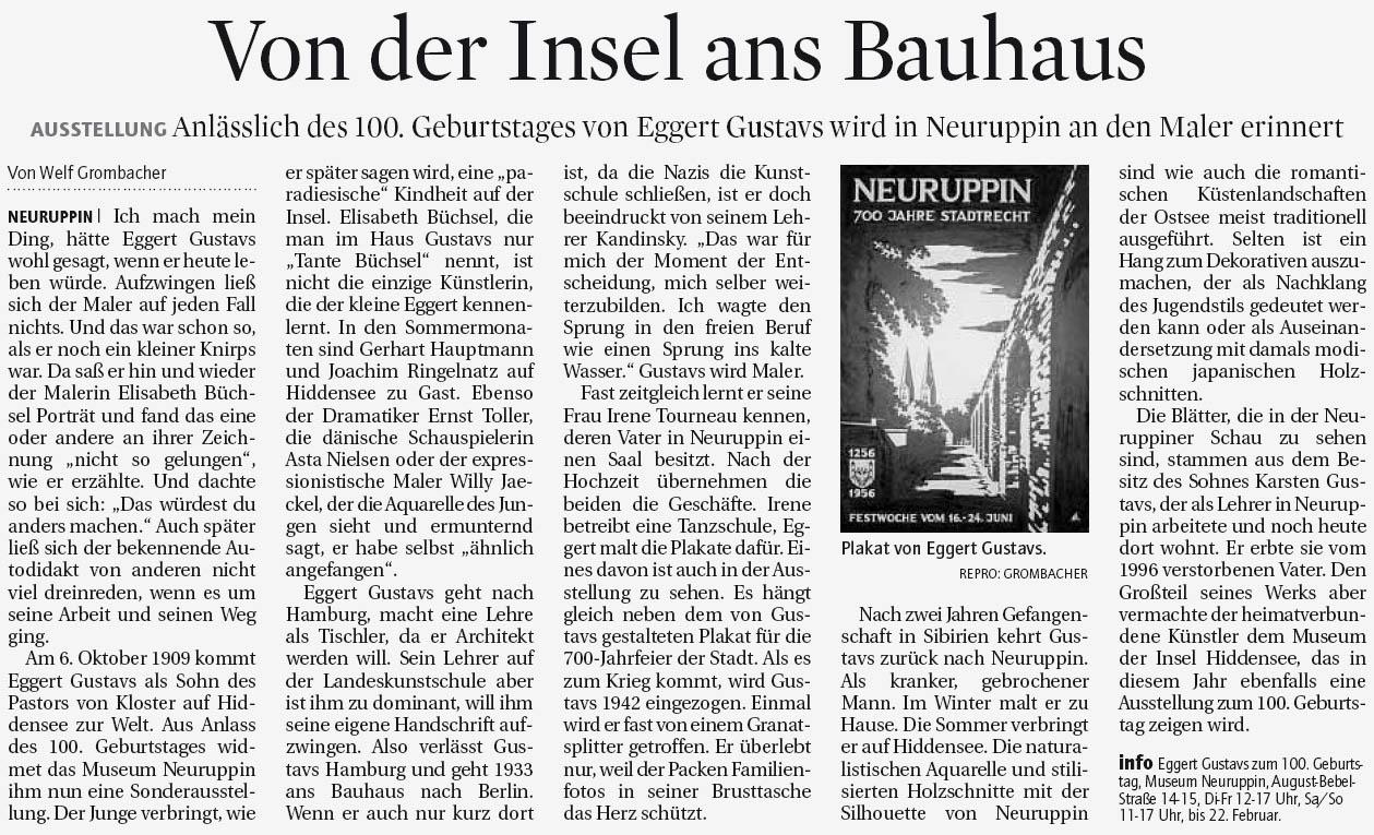 Märkische Allgemeine 27. Januar 2009
