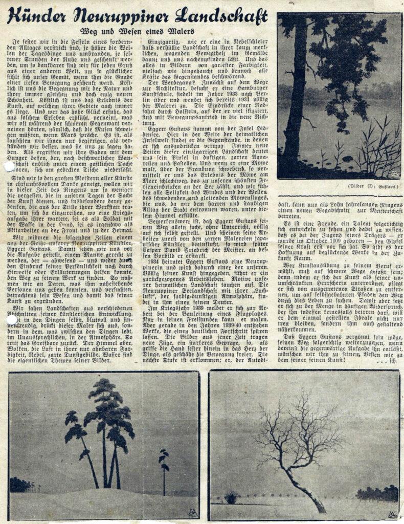 Märkische Zeitung 8./9. November 1941
