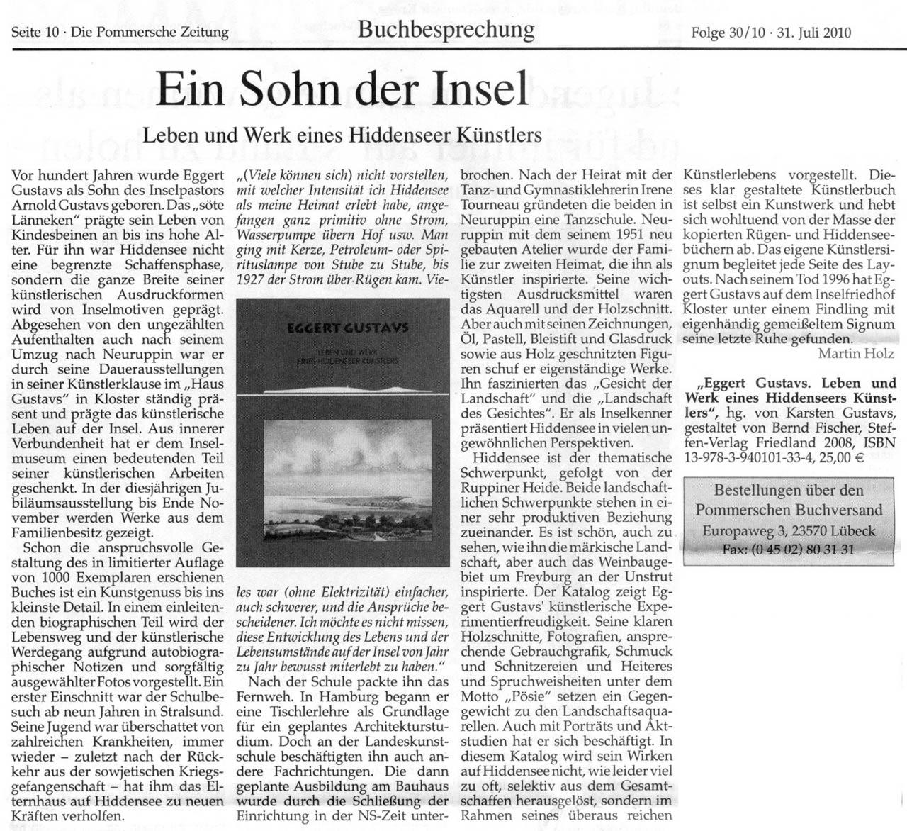 Die Pommersche Zeitung 31. Juli 2010