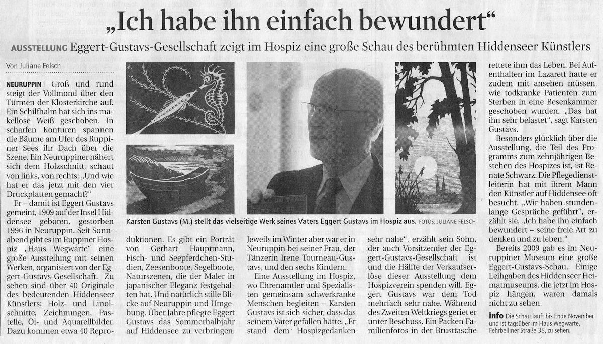 Märkische Allgemeine 27. September 2011