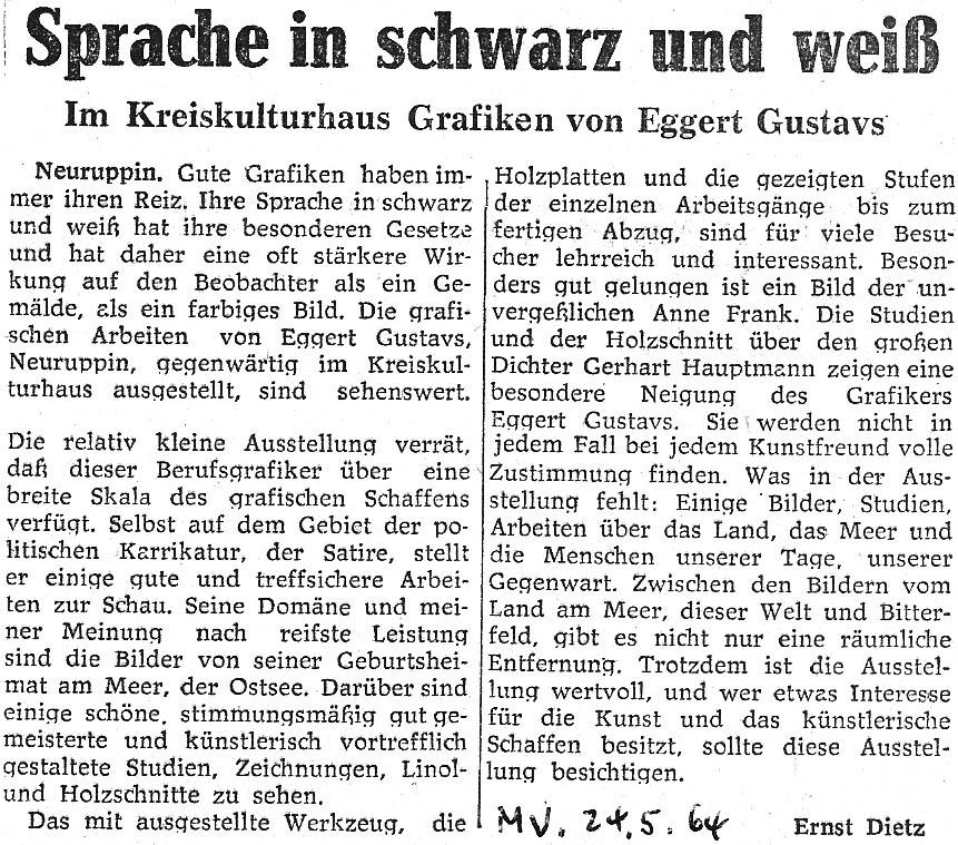 Märkische Volksstimme 24. Mai 1964