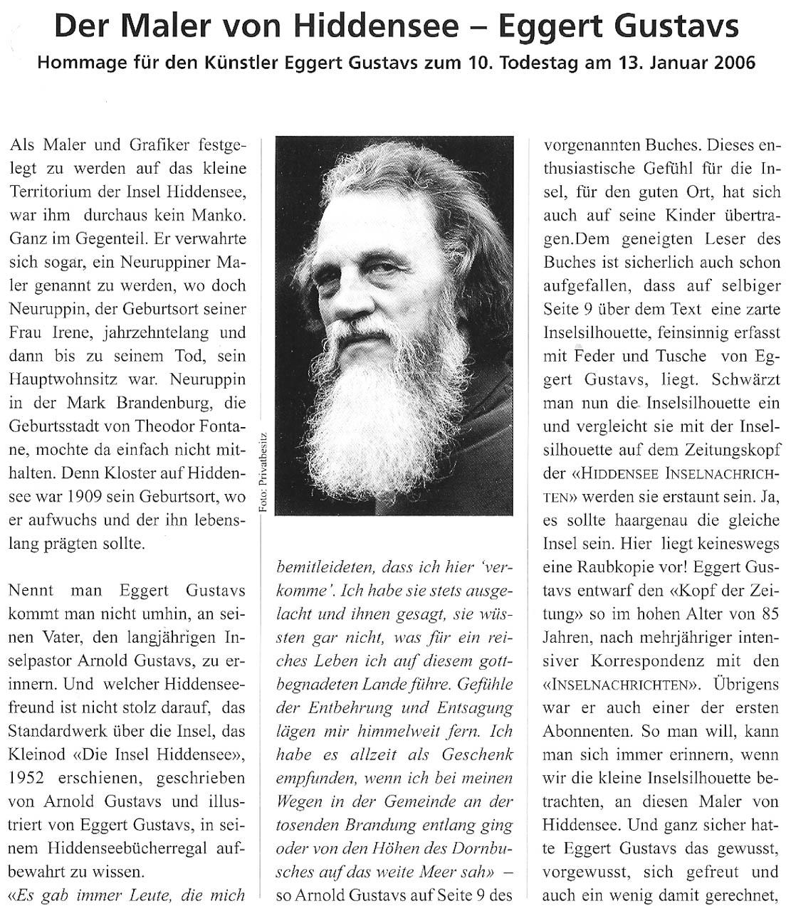 Inselnachrichten Januar / Februar 2006 (Seite 1 von 3)