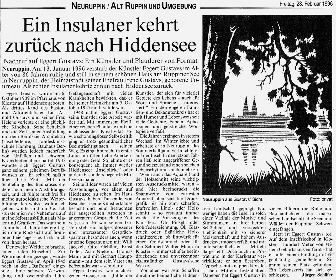 Ruppiner Anzeiger 23. Februar 1996