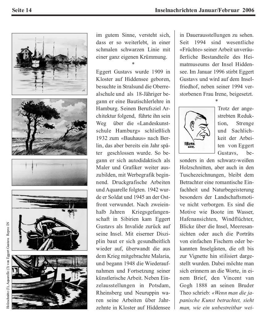 Inselnachrichten Januar / Februar 2006 (Seite 2 von 3)