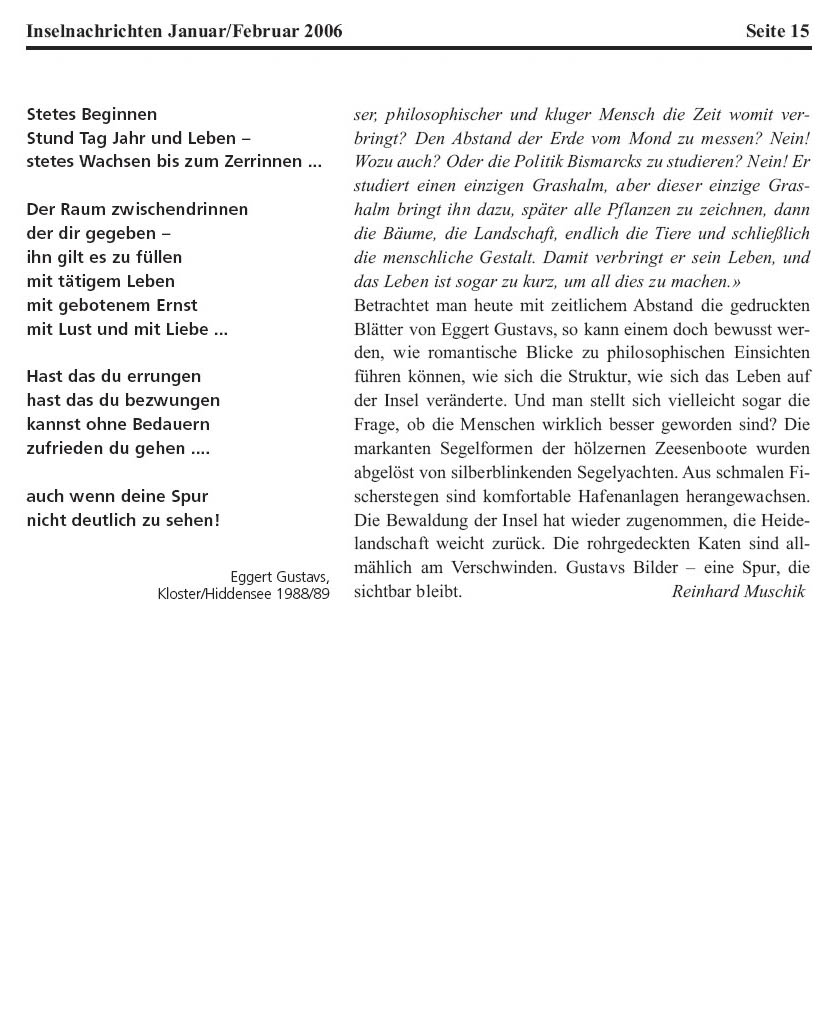 Inselnachrichten Januar / Februar 2006 (Seite 3 von 3)